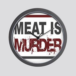 Meat Is Murder squarer-2 Wall Clock