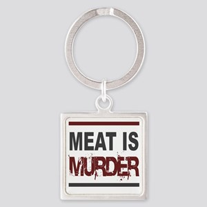 Meat Is Murder squarer-2 Square Keychain