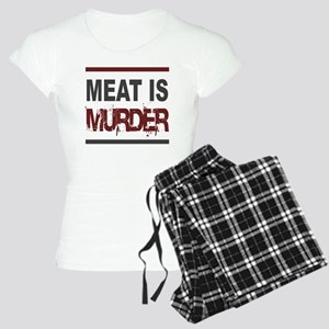 Meat Is Murder squarer-2 Women's Light Pajamas