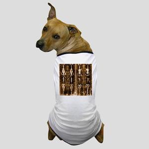 Shroud of Turin - Full Length Negative Dog T-Shirt