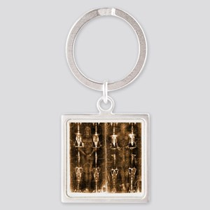 Shroud of Turin - Full Length Nega Square Keychain
