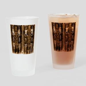 Shroud of Turin - Full Length Negat Drinking Glass