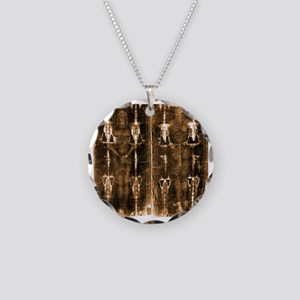 Shroud of Turin - Full Lengt Necklace Circle Charm