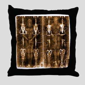 Shroud of Turin - Full Length Negativ Throw Pillow