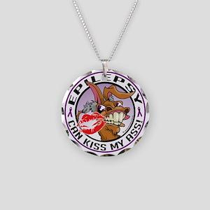 Epilepsy-Kiss-My-Ass Necklace Circle Charm
