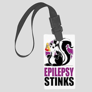Epilepsy-Stinks Large Luggage Tag