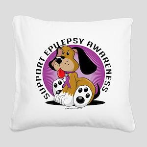 Epilepsy-Dog Square Canvas Pillow