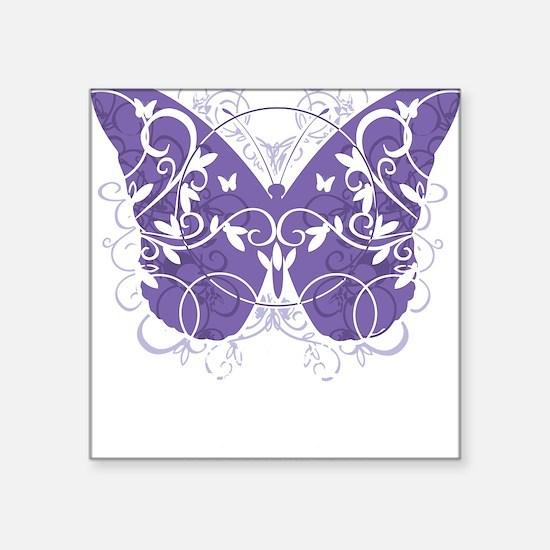 """Epilepsy-Butterfly-blk Square Sticker 3"""" x 3"""""""