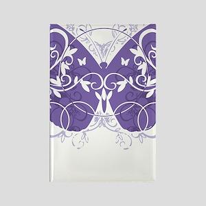 Epilepsy-Butterfly-blk Rectangle Magnet