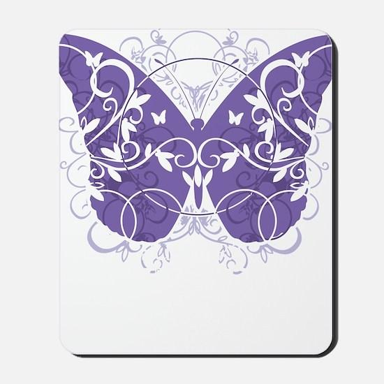 Epilepsy-Butterfly-blk Mousepad