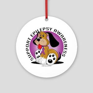Epilepsy-Dog Round Ornament