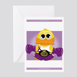 Knock-Out-Epilepsy-blk Greeting Card