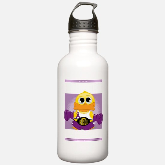 Knock-Out-Epilepsy-blk Sports Water Bottle