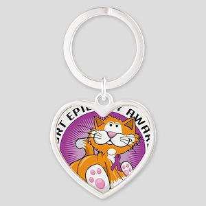 Epilepsy-Cat Heart Keychain