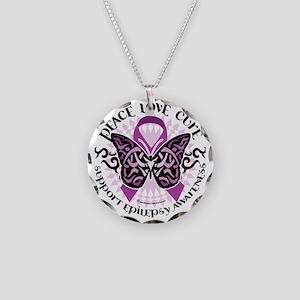 Epilepsy-Butterfly-Tribal-2 Necklace Circle Charm