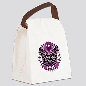 Epilepsy-Butterfly-Tribal-2-blk Canvas Lunch Bag