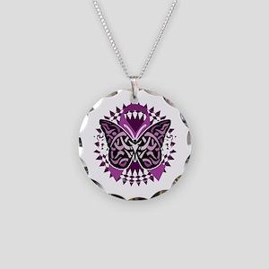 Epilepsy-Butterfly-Tribal-2- Necklace Circle Charm
