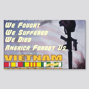 unsupported vet Sticker (Rectangle)
