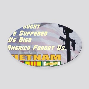 unsupported vet Oval Car Magnet