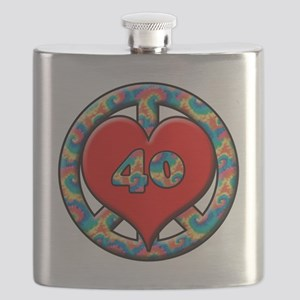 peace heart and 40 copy Flask