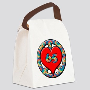 peace heart and 65 copy Canvas Lunch Bag