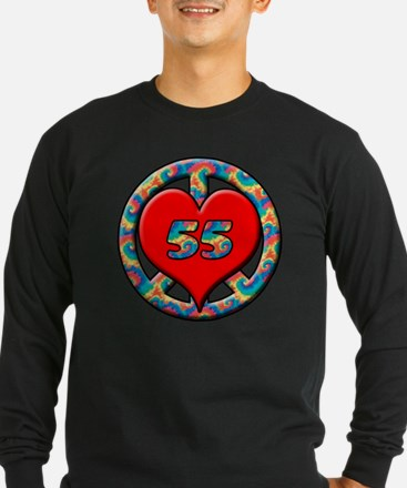 peace heart and 55 copy T
