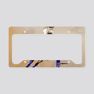 2-Barrel Horse-Yardsign License Plate Holder