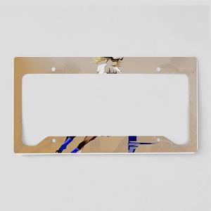 2-Barrel Horse-Yardsign License Plate Holder