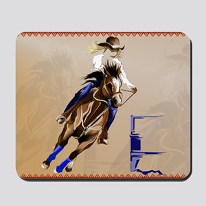 2-Barrel Horse-Yardsign Mousepad