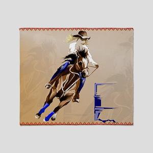 2-Barrel Horse-Yardsign Throw Blanket