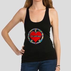 peace heart and Teaching copy Racerback Tank Top