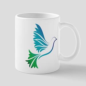 Jewel Colored Dove Bird Graphic Mugs