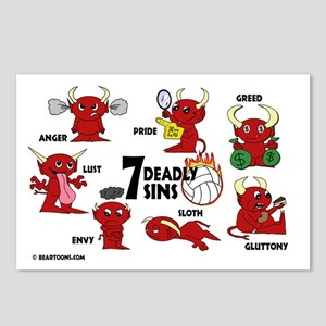 7deadlysinsvolleyball Postcards (Package of 8)