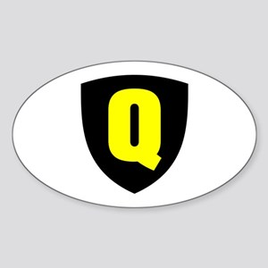 Letter Q Oval Sticker