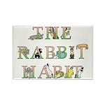 Rabbit Habit Kitchen Magnet