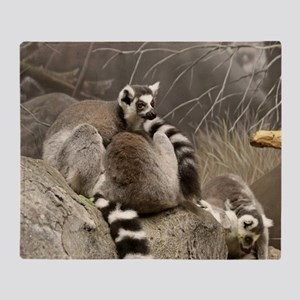 RingTailed Lemurs Small Poster Throw Blanket
