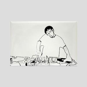 DJ Rectangle Magnet