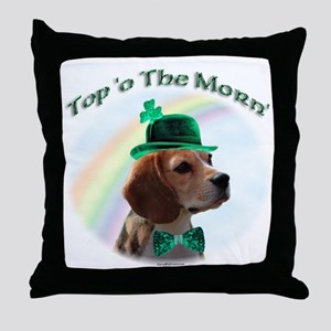 Beagle Morn Throw Pillow