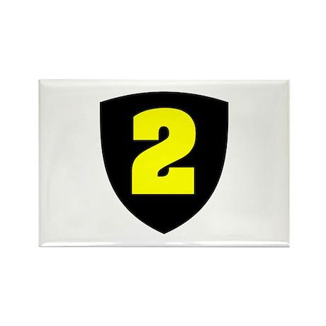 Number 2 Rectangle Magnet (100 pack)