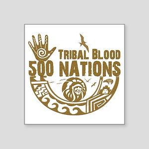 "Tribal Blood Square Sticker 3"" x 3"""