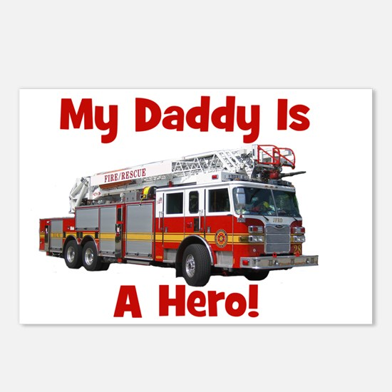 firetruck_isahero_daddy Postcards (Package of 8)