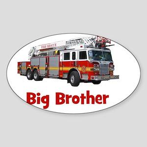 firetruck_bigbrother Sticker (Oval)