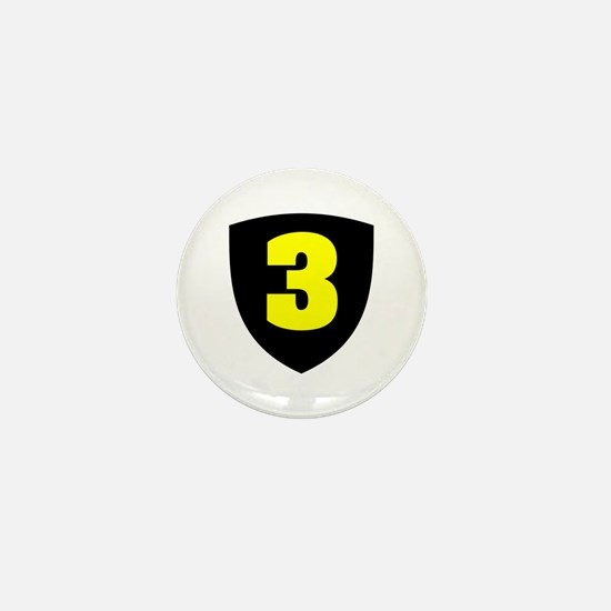 Number 3 Mini Button
