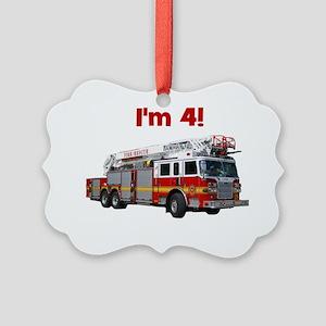 firetruck_im4 Picture Ornament