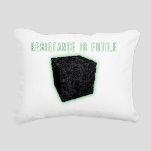 CubeResistanceDarks Rectangular Canvas Pillow