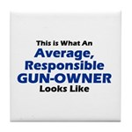 Gun-Owner Tile Coaster
