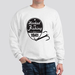 1941 Hooked on Fishing Sweatshirt