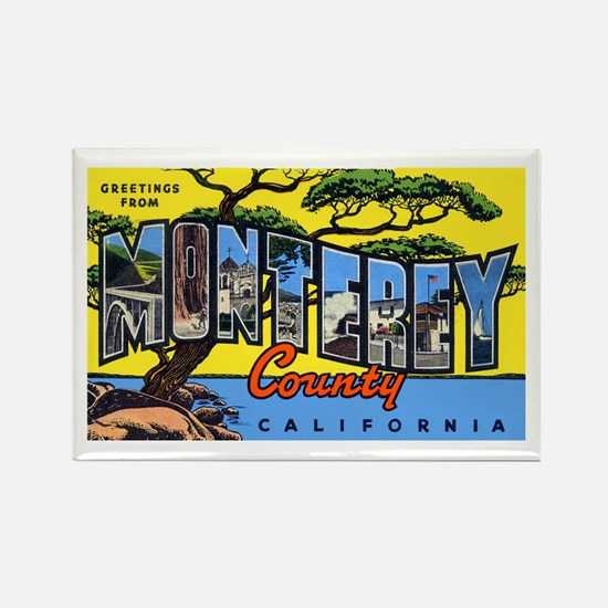Monterey County California Rectangle Magnet