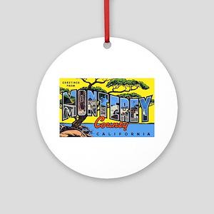 Monterey County California Ornament (Round)