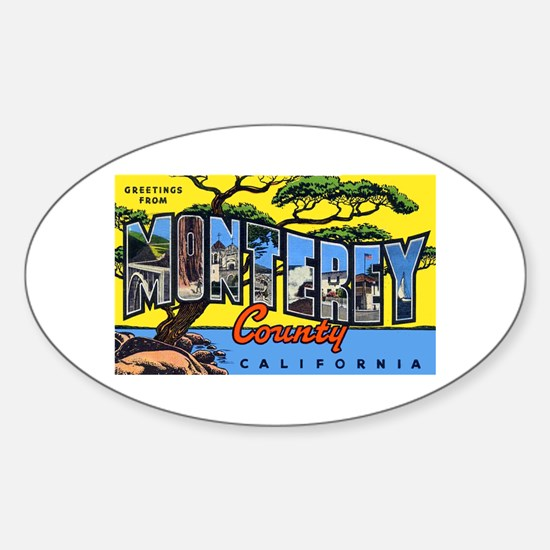 Monterey County California Oval Decal